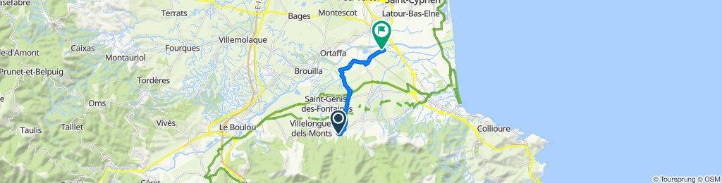 De Rue du Canigou 7, Laroque-des-Albères à Pla de la Barque 806, Palau-del-Vidre