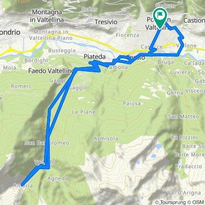 Giro a velocità lenta in Ponte in Valtellina