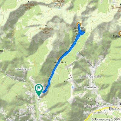 Kaning - Langalmtal - Erlacher Bockhütte