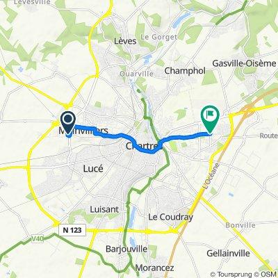 Itinéraire reposant en Chartres