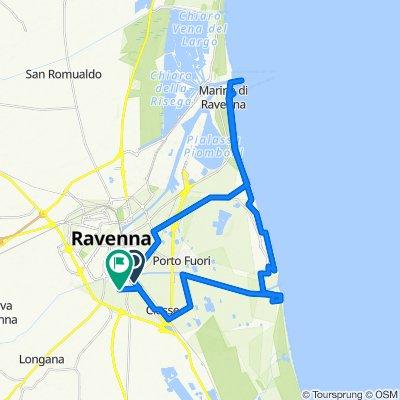 Da Via Romea Sud 504, Ravenna a Via dei Nespoli 53, Ravenna