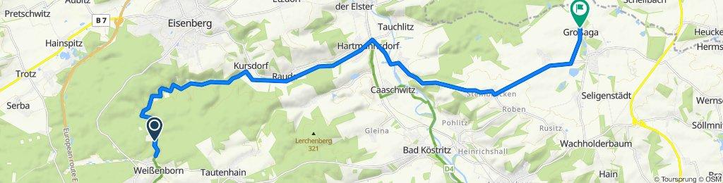 Mühltal 12, Weißenborn nach Aga Zeitzer Straße 10, Gera