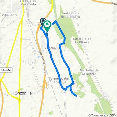 De LE-5518 1, Onzonilla a Avenida Carro León 17, Vilecha