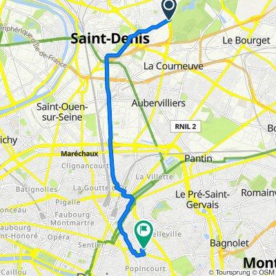 Route stable en Paris