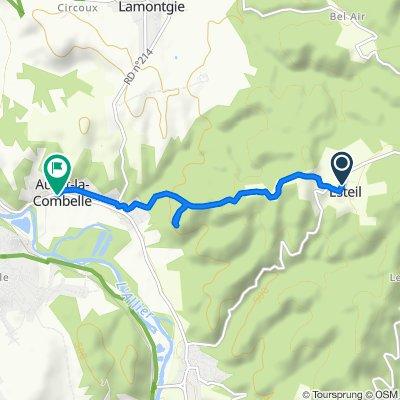 De Route de la Chapelle 6, Esteil à Place du Coudert 9, Auzat-la-Combelle