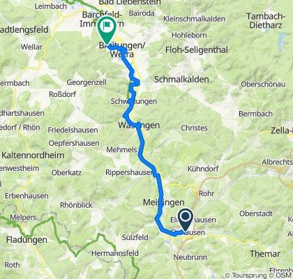 Langsame Fahrt in Breitungen/Werra