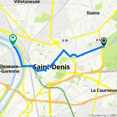 Itinéraire modéré en L'Île-Saint-Denis