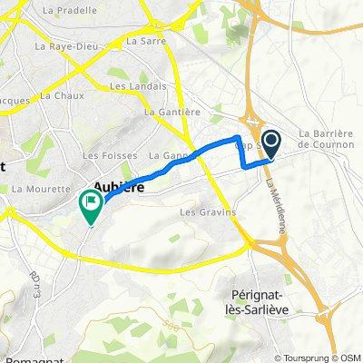 Itinéraire modéré en Aubière