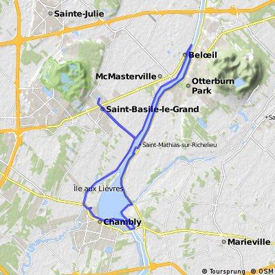 Richelieu River und Lac Chambly