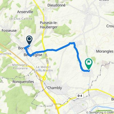 Itinéraire facile en Le Mesnil-en-Thelle