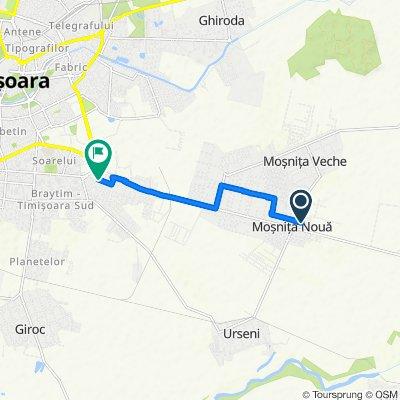 Route from Strada Școlii, Moșnița Nouă
