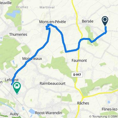Itinéraire sportif en Evin-Malmaison