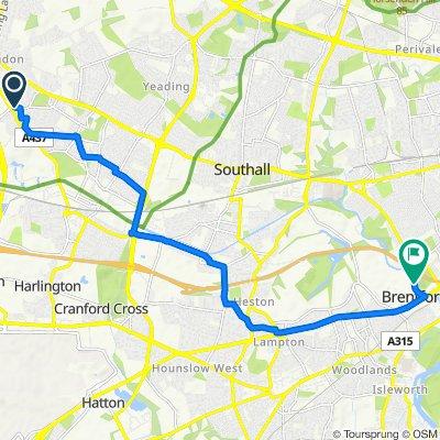 2 Morello Avenue, Uxbridge to Transport Avenue, Brentford