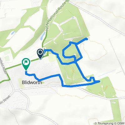 Belle Vue Lane 130, Blidworth to The Quadrangle 3, Blidworth