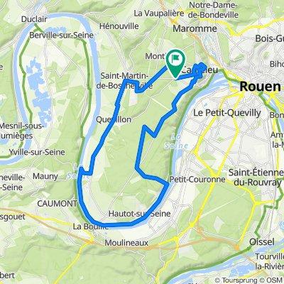 Entre forêt et Seine depuis Canteleu