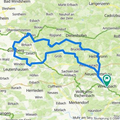 Windsbach - Heilsbronn - Burg Colmberg - Rundkurs
