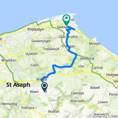 Tremeirchion Road, Saint Asaph to A548, Holywell