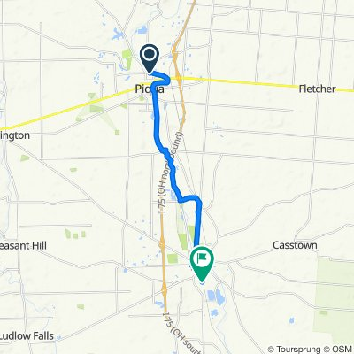North Wayne Street 730, Piqua to Union Street 633, Troy