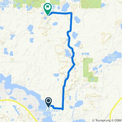 5730 Eagles Bluff Rd, Rhinelander to 5683–5699 Spider Lake Rd, Rhinelander
