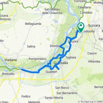 Da Via P. Borsellino 33, Suzzara a Via P. Borsellino 33, Suzzara