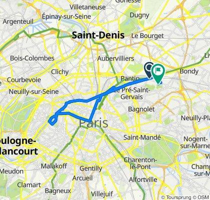 De Romainville à Tour Eiffel