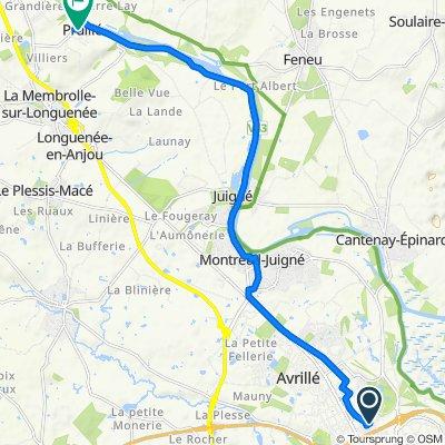 De Boulevard Elisabeth Boselli 135, Angers à Rue Principale 4, Longuenée-en-Anjou