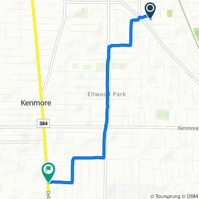 45 Cable St, Buffalo to 2491 Delaware Ave, Buffalo