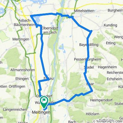 Meitingen - Baar - Sallach - Rain - Eggelstetten - Meitingen