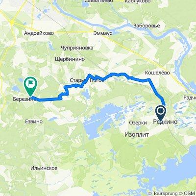 От ул. Пионерская 5, Редкино до Unnamed Road, Шокорово