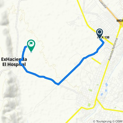Route from Avenida Ferrocarril, Cuautla