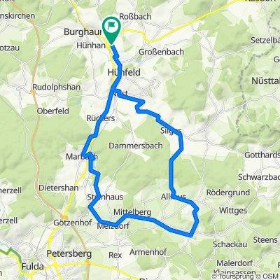 Rundweg Haunetalradweg / Milseburgradweg / Hofbieber / Nüstalradweg