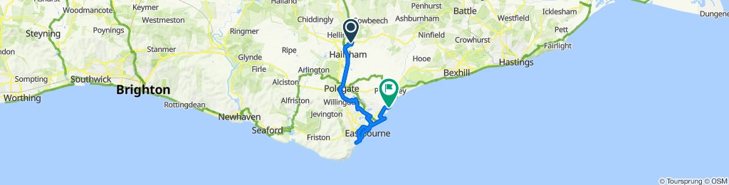 PT 7 - HAILSHAM NORTH - STONE CROSS - EASTBOURNE - EASTBOURNE HARBOUR - CUCKOO TRAIL