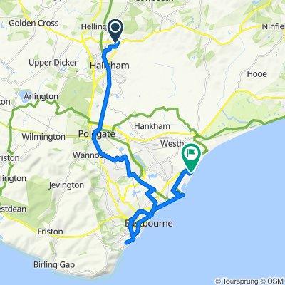 PT 7 - HAILSHAM NORTH - STONE CROSS - EASTBOURNE - EASTBOURNE HARBOUR - CUCKOO TRAIL
