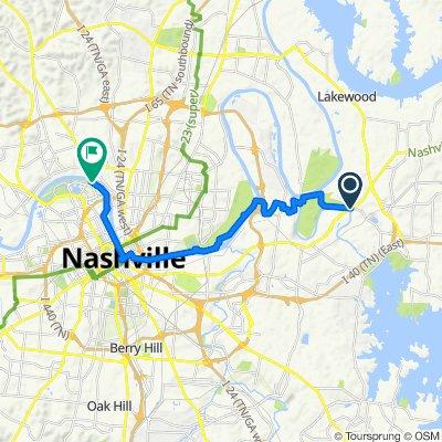 1014 Stones River Rd, Nashville to 331 Great Circle Rd, Nashville