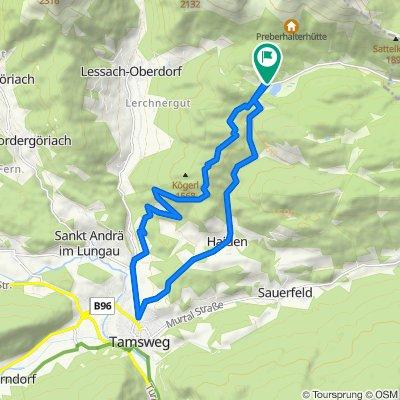 Prebersee über Hinterwöltinger Berg - Kögerl 1568m