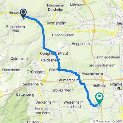 Route Zellertal-Lambsheim Weiher
