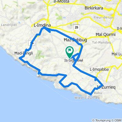 Siggiewi - Dingli route