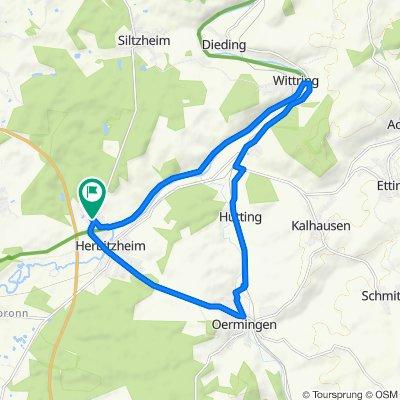 Itinéraire reposant en Herbitzheim