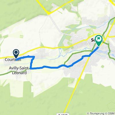 Itinéraire facile en Senlis
