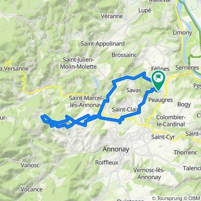 Route stable en Peaugres