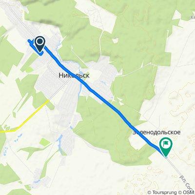 Умеренный маршрут в Никольск
