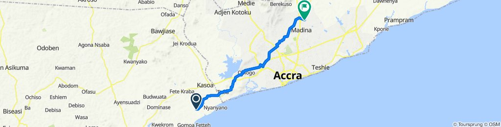 Route to Sowah Bampoe Street, Accra