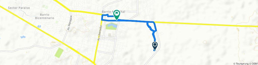 De Carretera El Desvio, Valle de la Pascua a Troncal 13, Valle de la Pascua