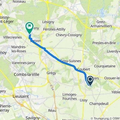 Itinéraire modéré en Santeny