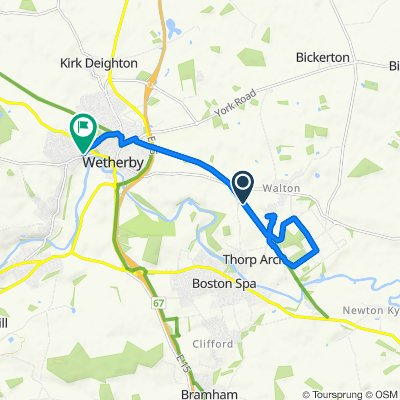 Route to 14 Linton Road, Wetherby