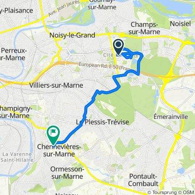 Itinéraire reposant en Chennevières-sur-Marne