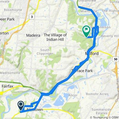 Sporty route in Cincinnati
