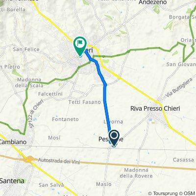 Giro a velocità lenta in Chieri