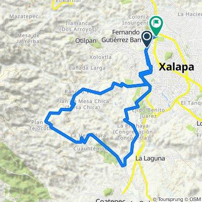 Ruta moderada en Coapexpan-Cinco Palos-Briones