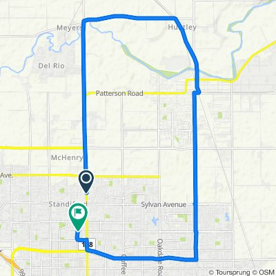 Sporty route in Modesto